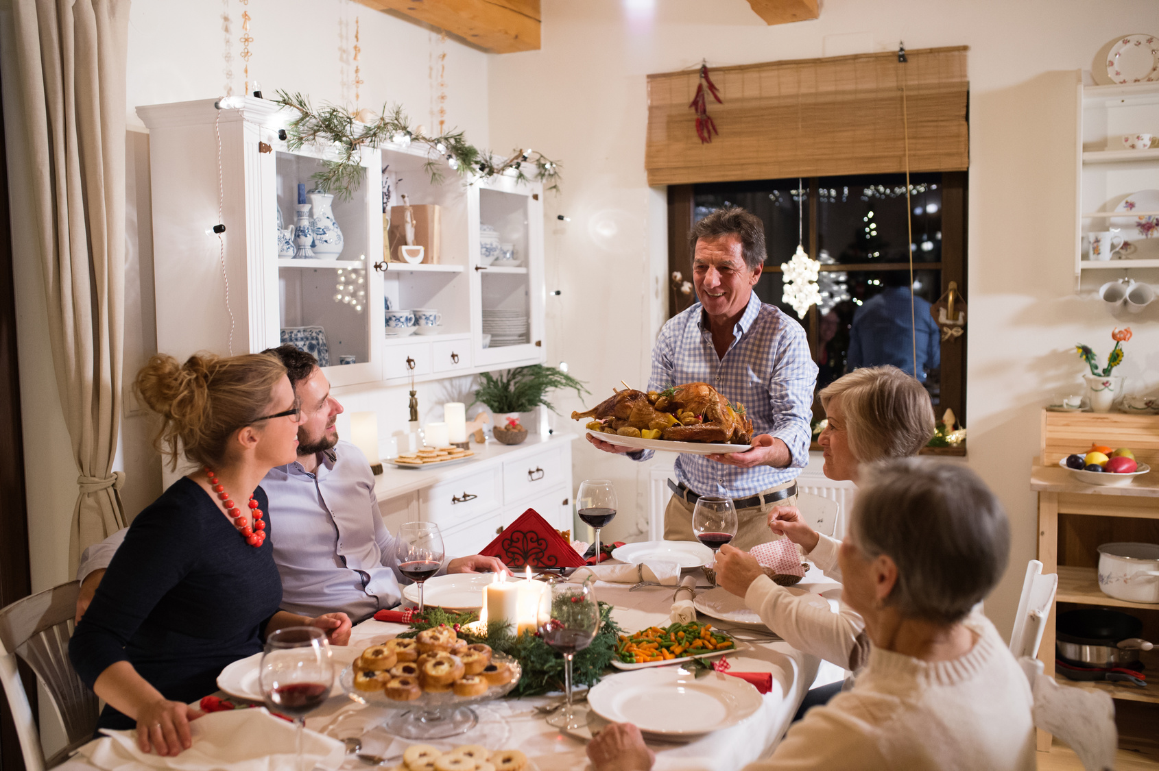 A time for sharing – gathering the family around the Christmas table with the perfect goose